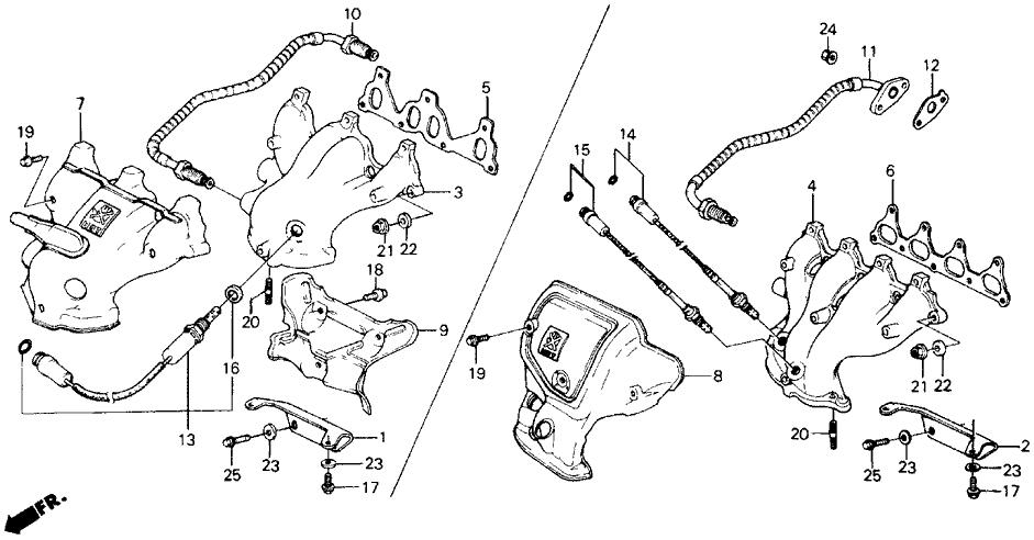 1991 Honda Prelude 2 Door 2.0SI KA 5MT Exhaust Manifold