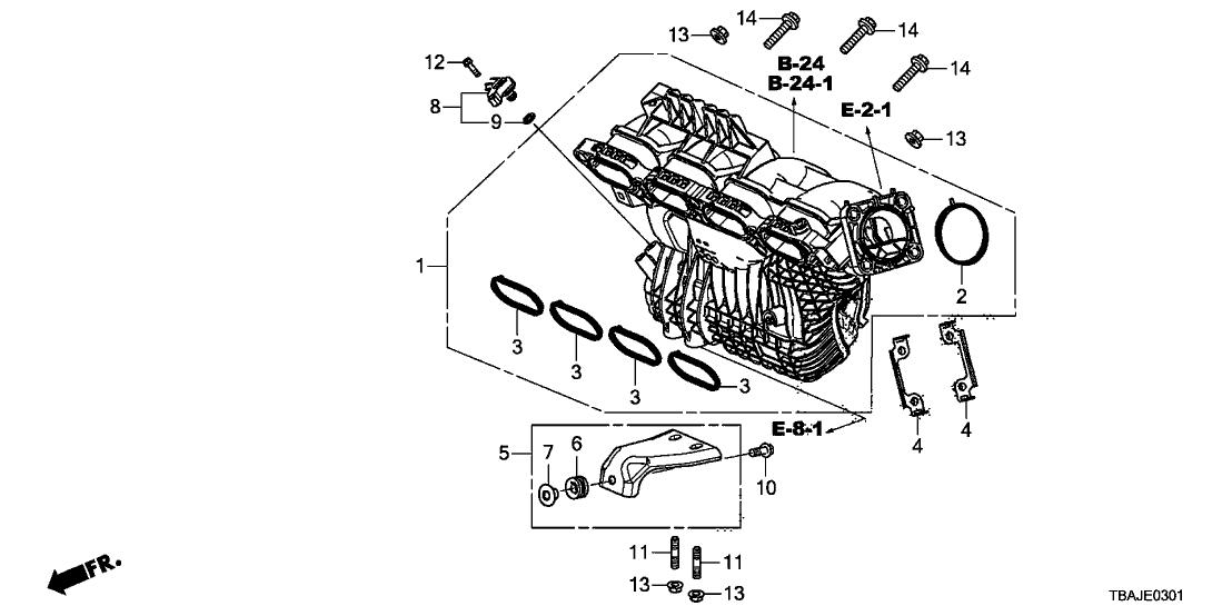 2018 Honda Civic 4 Door EX (AEP ENGINE/HDM CVT) KA CVT