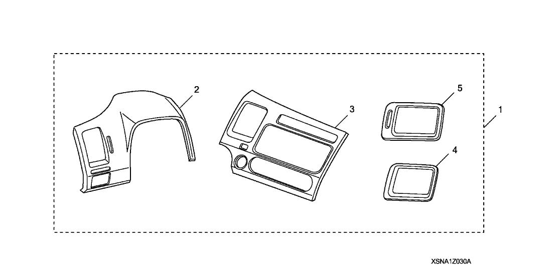 2010 Honda Civic 2 Door SI KA 6MT Interior Gauge Trim