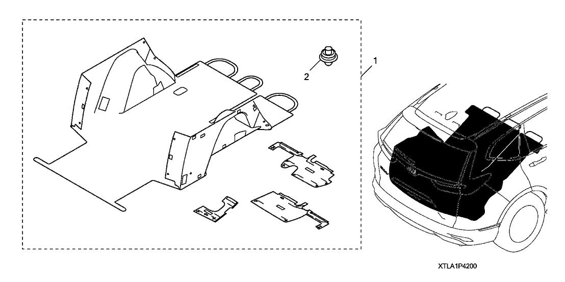 2017 Honda CR-V 5 Door EX (AWD/ONTARIO) KA CVT Cargo Liner