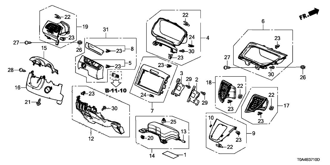 2013 Honda CR-V 5 Door LX (AWD) KA 5AT Instrument Panel
