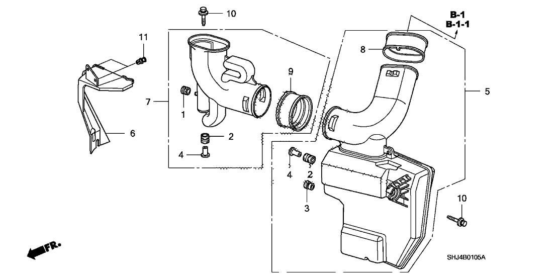 2005 Honda Odyssey 5 Door EX KA 5AT Resonator Chamber