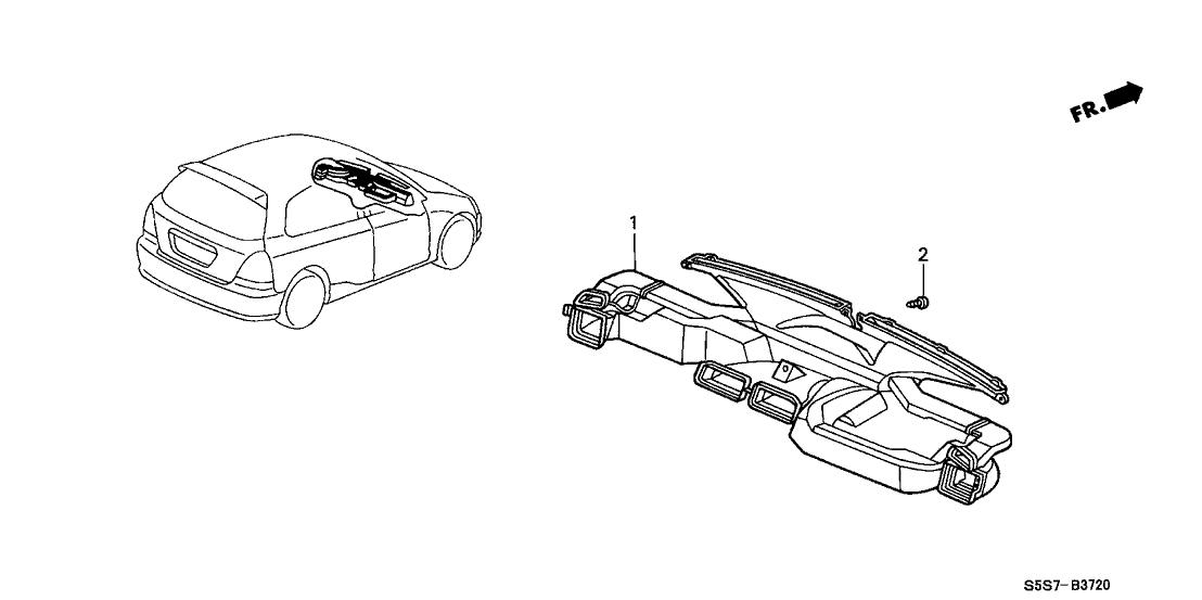 2002 Honda Civic 3 Door SI (SIDE SRS) KA 5MT Duct