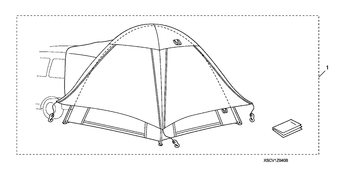 2016 Honda Odyssey 5 Door TOURIN (ELITE) KA 6AT Tailgate Tent