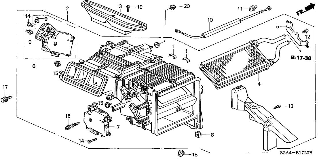 2004 Honda S2000 2 Door S2000 KA 6MT Heater Unit