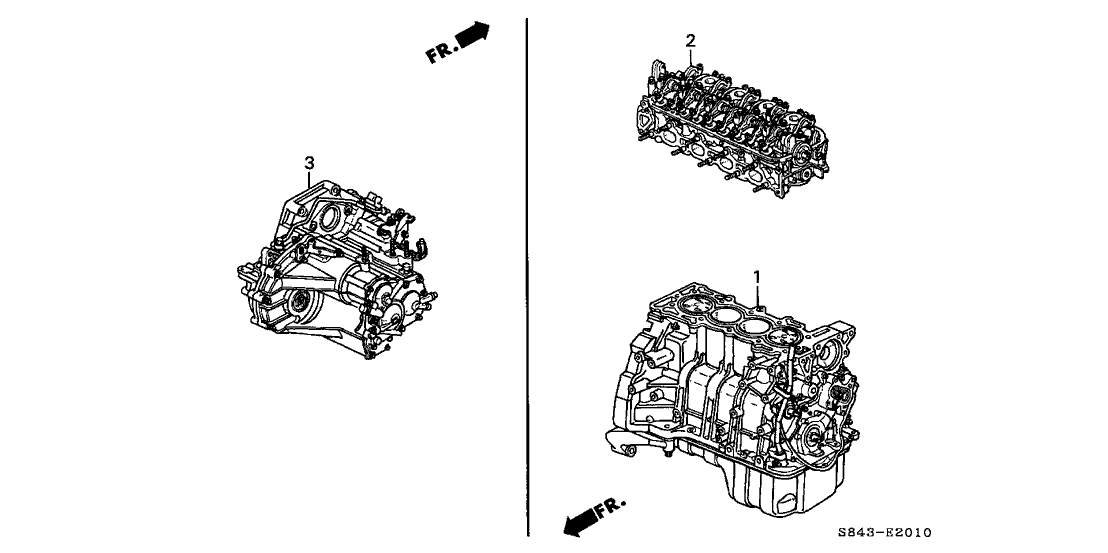 1998 Honda Accord 4 Door DX KA 5MT Engine Assy