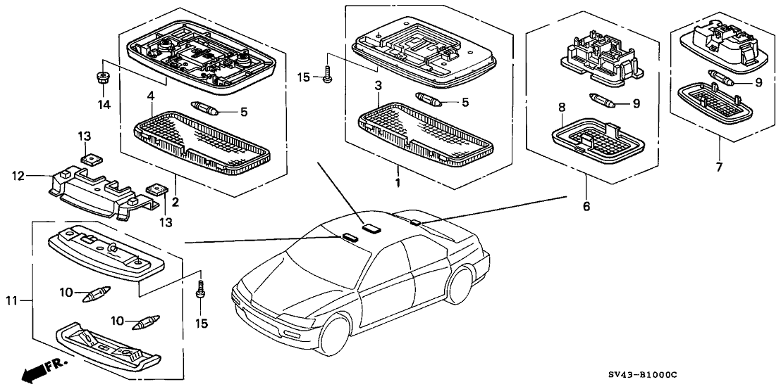 1994 Honda Accord 4 Door LX KL 5MT Interior Light