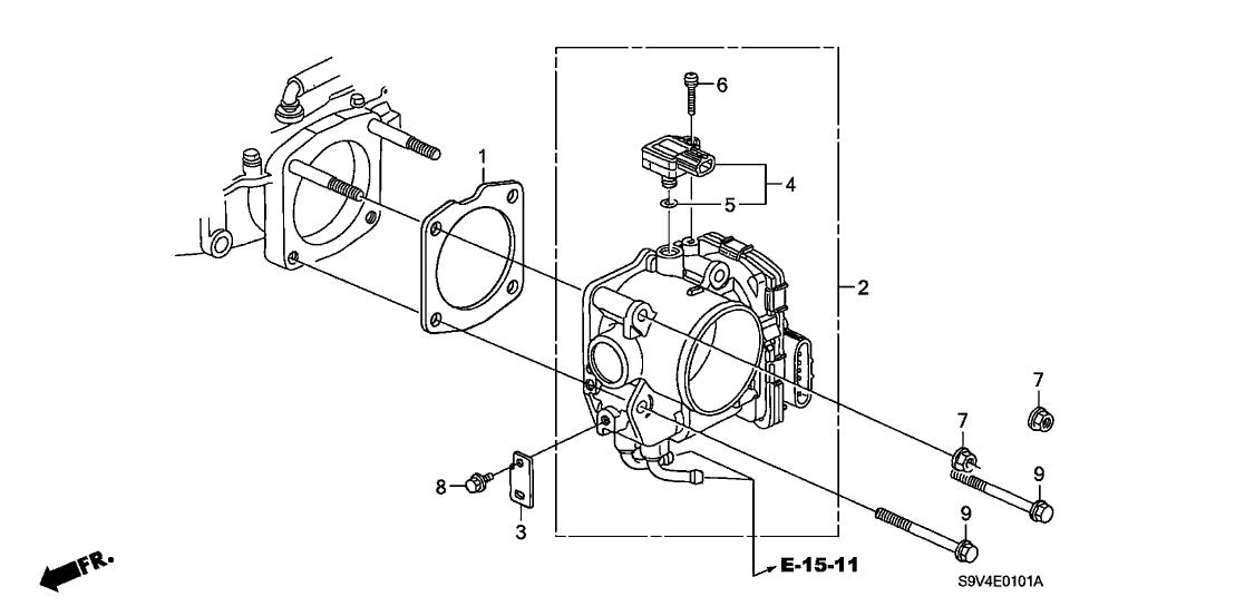 2006 Honda Pilot 5 Door EX (4WD) KA 5AT Throttle Body
