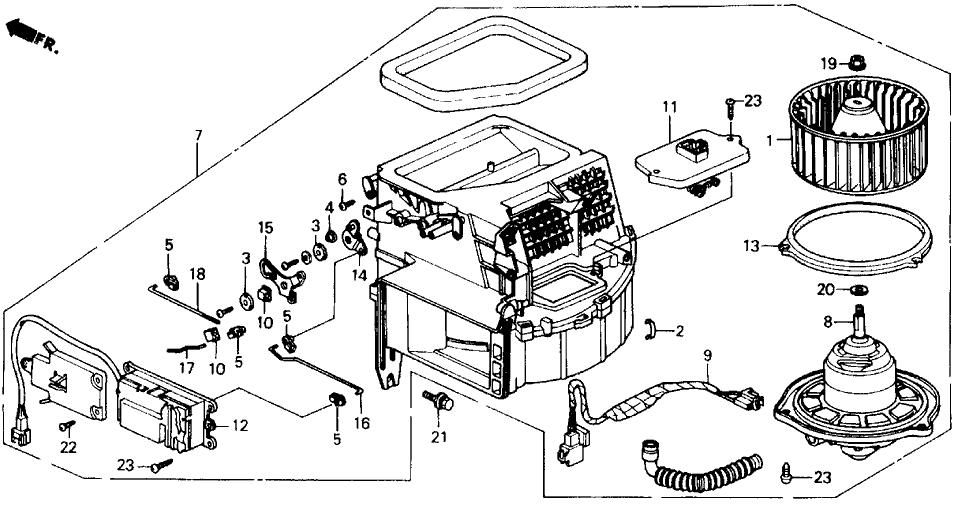 1991 Honda Prelude 2 Door 2.05SI (4WS) KA 5MT Heater Blower