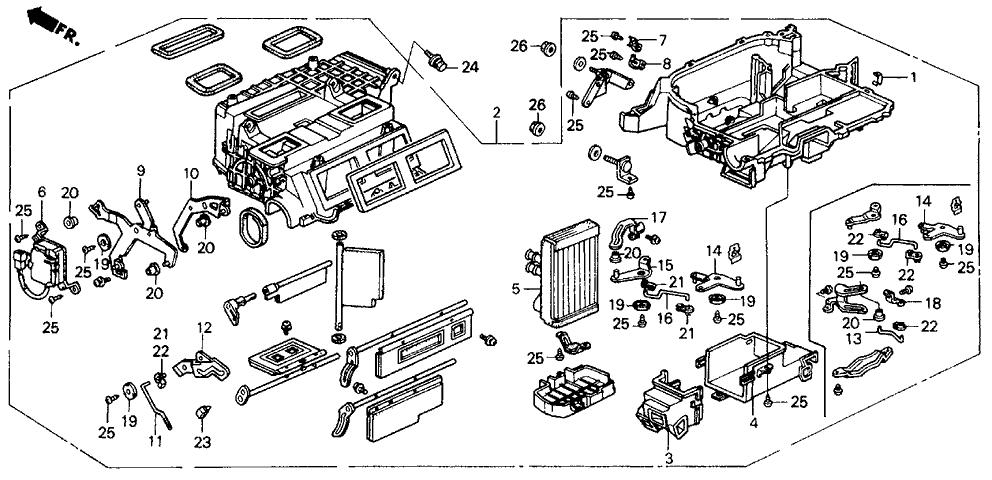 1991 Honda Prelude 2 Door 2.05SI (4WS) KA 5MT Heater Unit