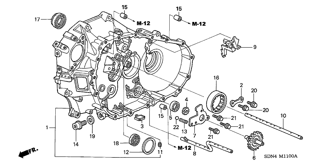 2006 Honda Accord 2 Door EX (V6) KA 6MT MT Clutch Case (V6)