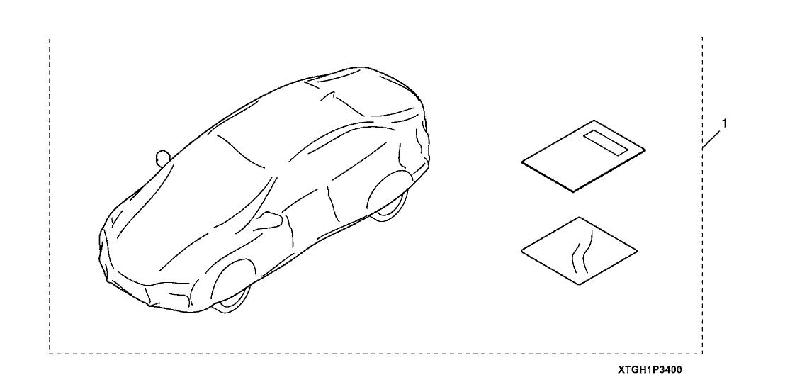 2019 Honda Civic 5 Door TYPE R (TOURING) KA 6MT Car Cover