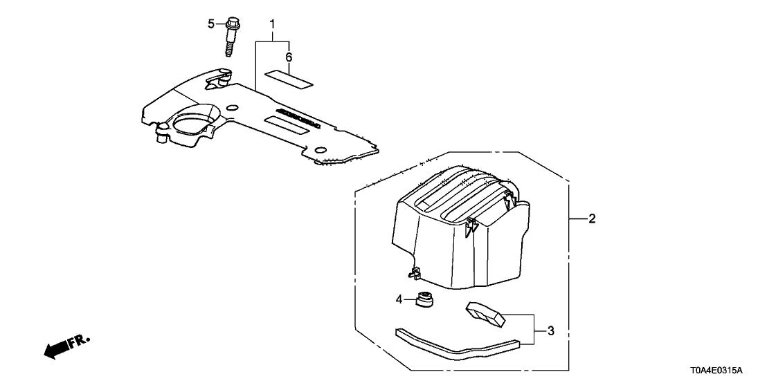 2015 Honda CR-V 5 Door EX (2WD) KA CVT Engine Cover