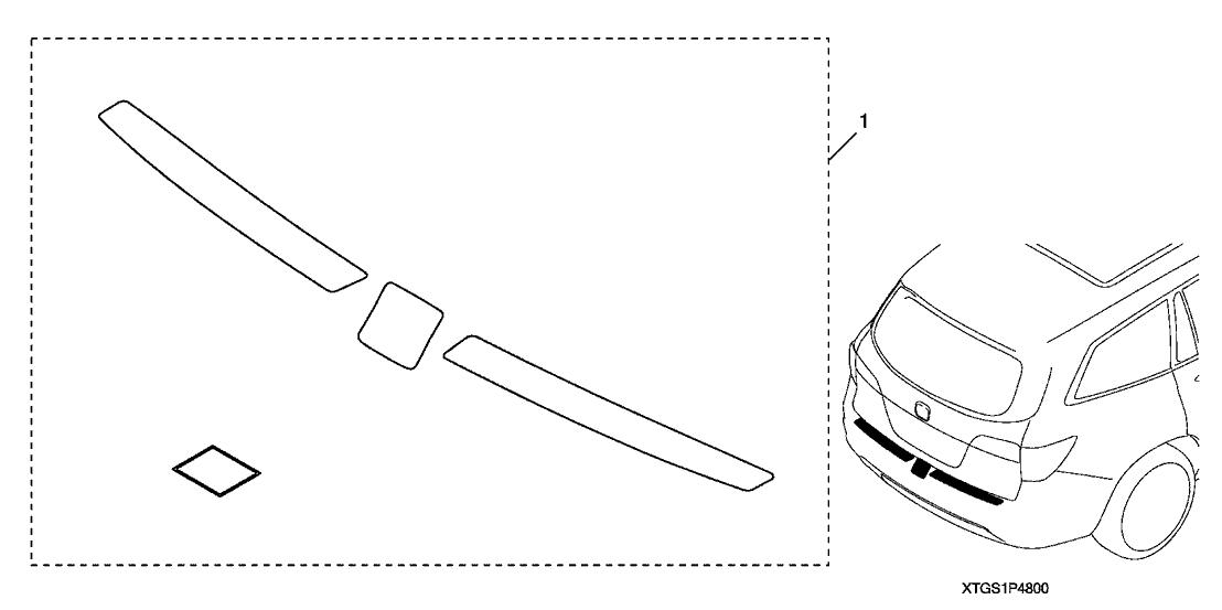 2019 Honda Passport 5 Door TRG (AWD) KA 9AT Rear Bumper