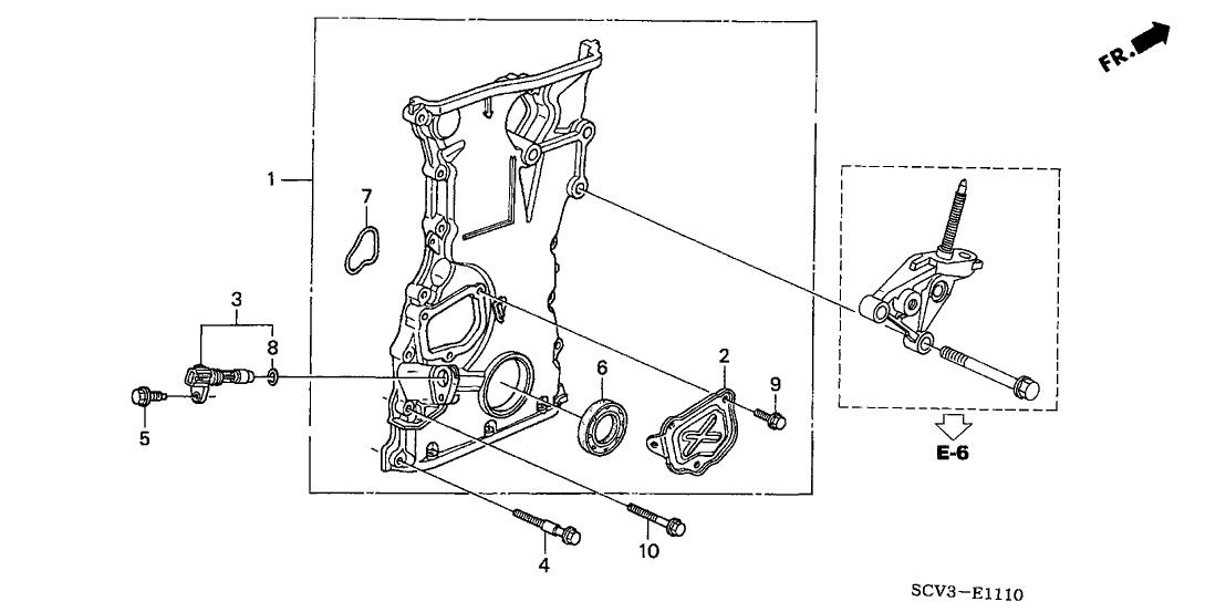 2003 Honda Element 5 Door EX (4WD SD A/B) KA 4AT Chain Case