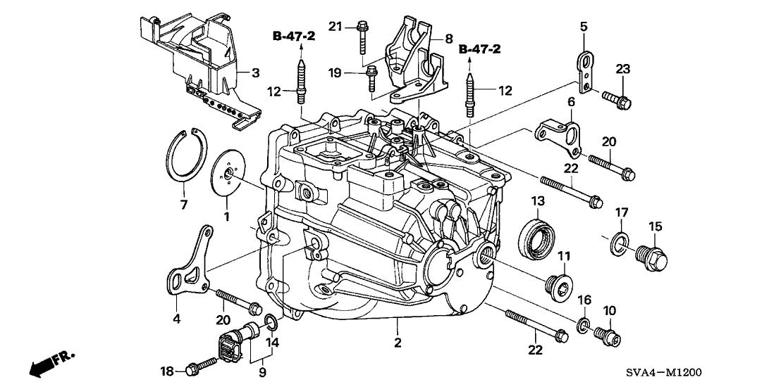 2006 Honda Civic 2 Door SI KA 6MT Transmission Case (2.0L)