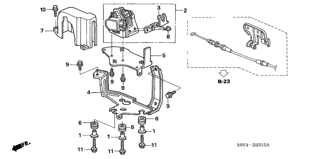2005 Honda Pilot 5 Door EXL (RES) KA 5AT Accelerator Sensor