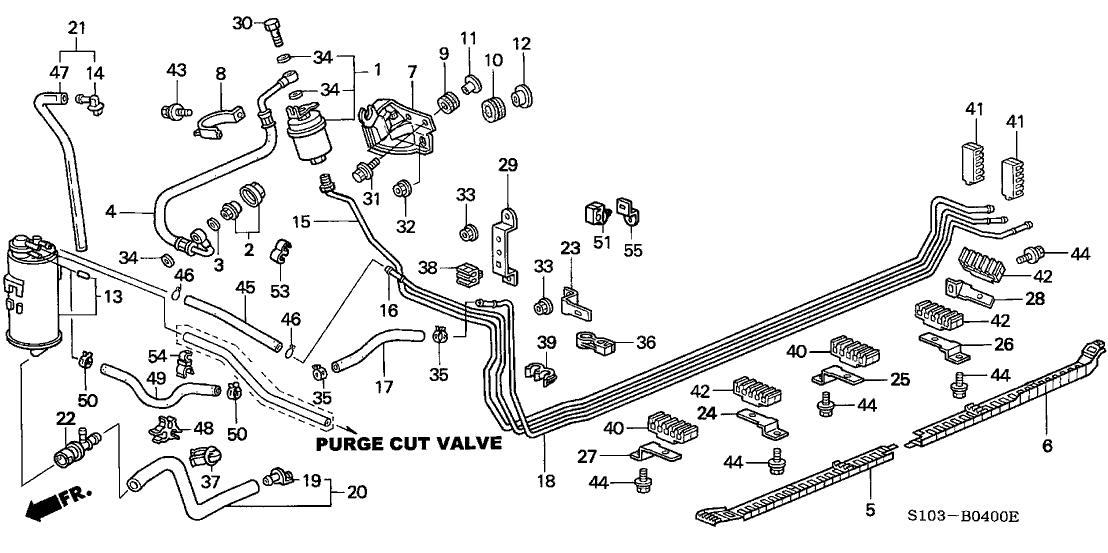 1997 Honda CR-V 5 Door LX (4WD) KA 4AT Fuel Pipe