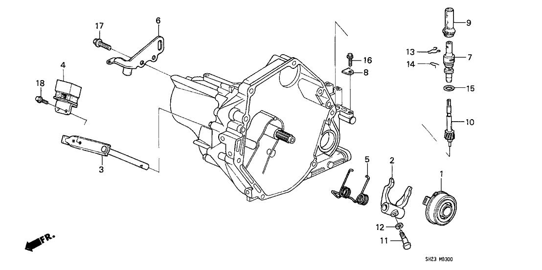 1991 Honda CRX 2 Door HF KA 5MT MT Clutch Release