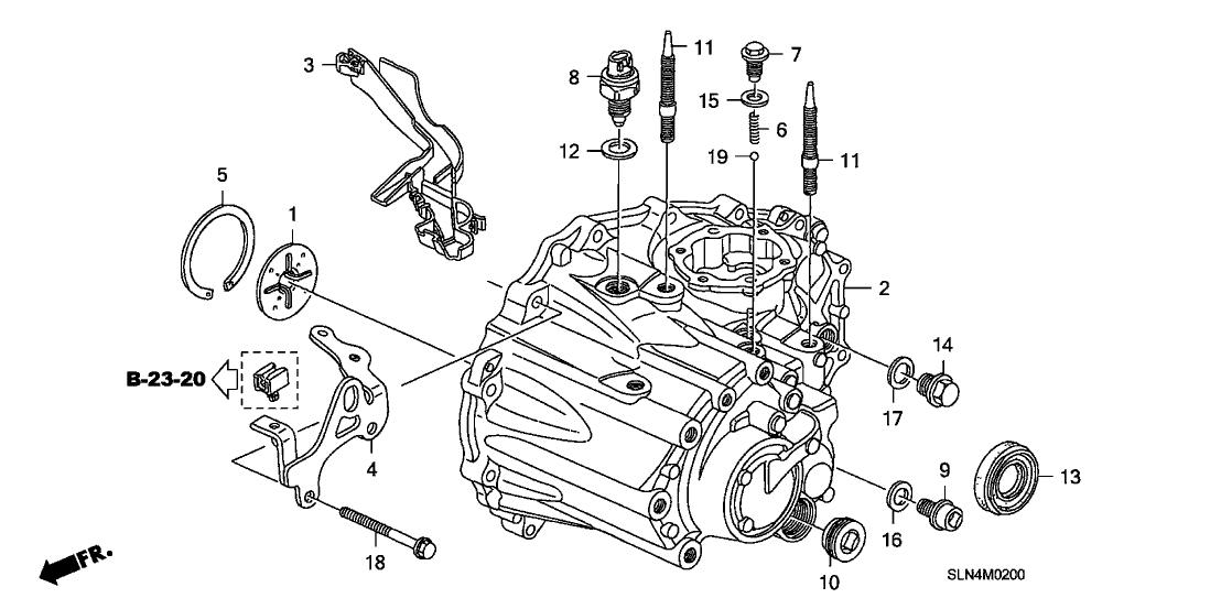 2008 Honda Fit 5 Door SPORT KA 5MT MT Transmission Case