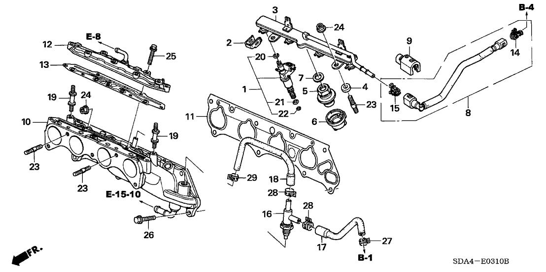 2003 Honda Accord 4 Door LX KA 5AT Fuel Injector (L4)