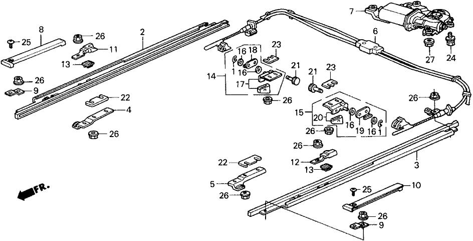 1991 Honda Prelude 2 Door 2.05SI (4WS) KA 5MT Roof Motor