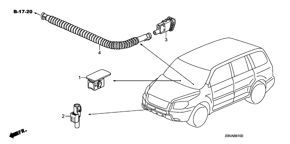2008 Honda Pilot 5 Door EX (4WD) KA 5AT A/C Sensor