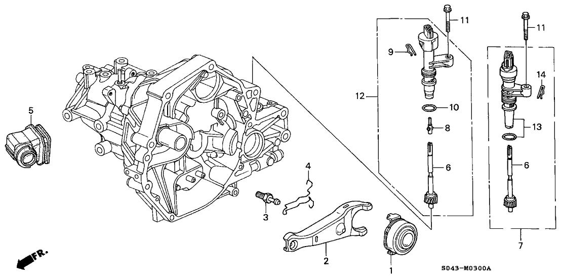 1996 Honda Civic 4 Door EX KA 5MT MT Clutch Release