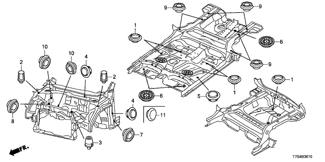 2016 Honda HR-V 5 Door LX (2WD) KA CVT Grommet (Front)