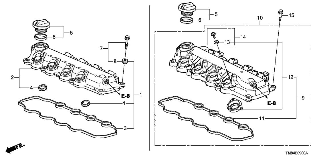 2010 Honda Insight 5 Door EX (NAVIGATION) KA CVT Cylinder