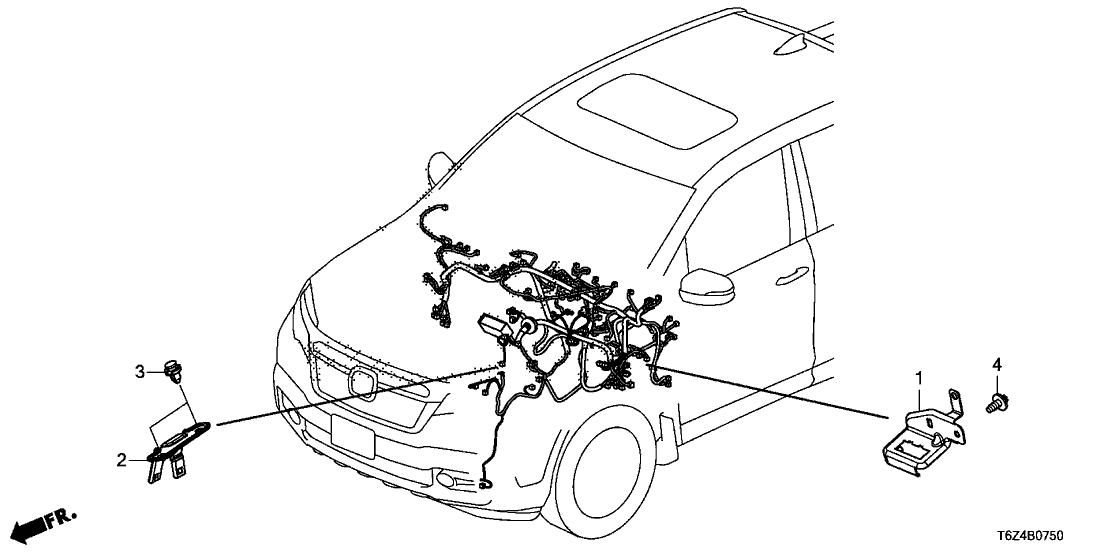 2019 Honda Ridgeline 4 Door RTL (T2WD) KA 6AT Wire Harness