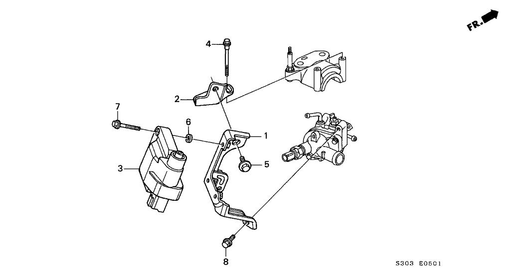 1998 Honda Prelude 2 Door TYPESH KA 5MT Ignition Coil