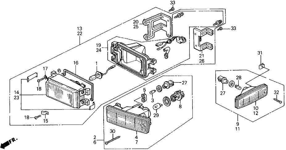 1991 Honda Prelude 2 Door 2.05SI (4WS) KA 5MT Front