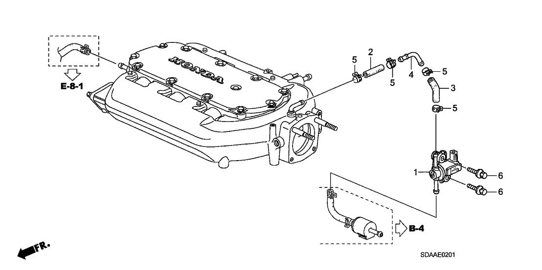 2007 Honda Accord 4 Door EX (V6) KA 5AT Tubing (V6)
