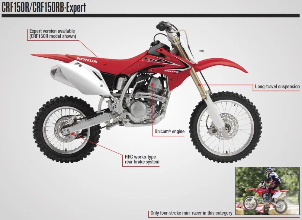 medium resolution of 2017 honda crf150r review of specs dirt bike motorcycle engine frame suspension