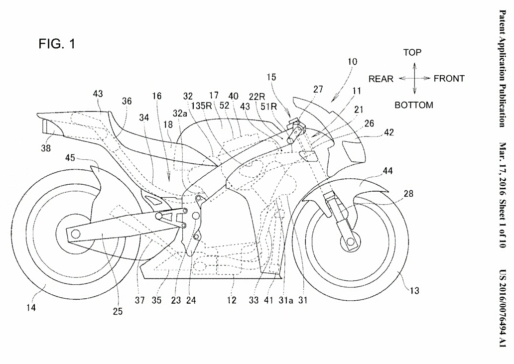 2017+ Honda V4 CBR / RVF 1000 / RR Motorcycle Patents