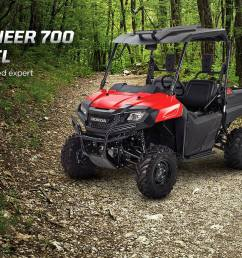 honda pioneer 700 trail accessories package review hard top roof led lights  [ 1440 x 770 Pixel ]