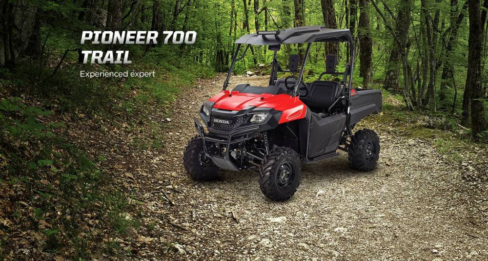 medium resolution of honda pioneer 700 trail accessories package review hard top roof led lights