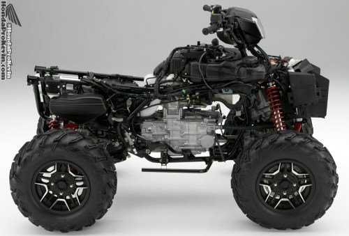 small resolution of 2016 honda rubicon 500 atv frame engine review specs price hp