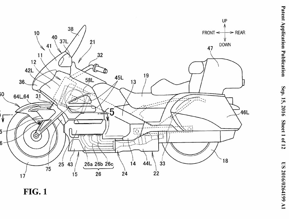 New 2018 Honda Gold Wing Patents show HUGE Changes in the
