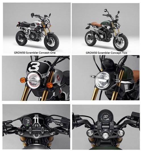 small resolution of new 2019 honda grom scrambler monkey 125 grom motorcycles 125cc mini bi