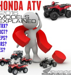 2016 honda trx atv models explained comparison faq model lineup review honda pro kevin [ 1000 x 1000 Pixel ]