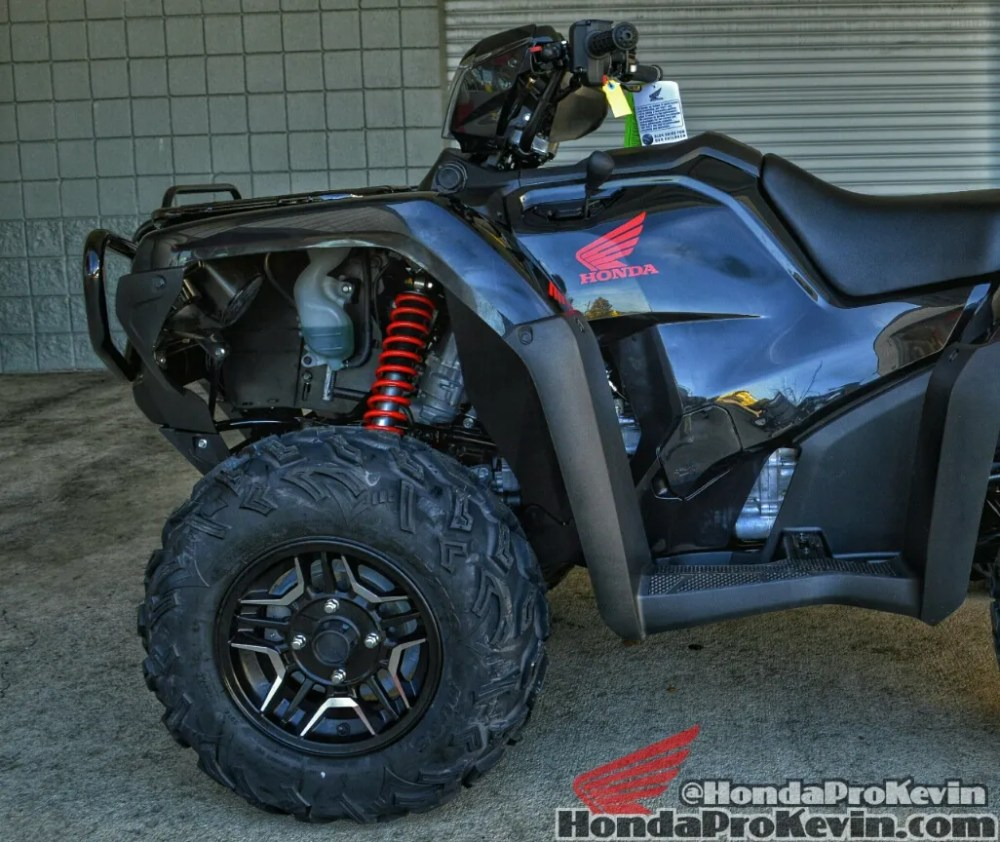 medium resolution of 2016 honda fourtrax foreman rubicon 500 deluxe black 4x4 atv custom
