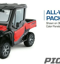 2018 honda pioneer 1000 all weather package accessories parts sxs utv  [ 1500 x 816 Pixel ]