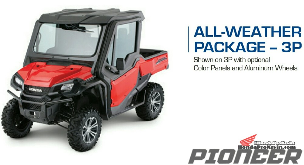 medium resolution of 2018 honda pioneer 1000 all weather package accessories parts sxs utv
