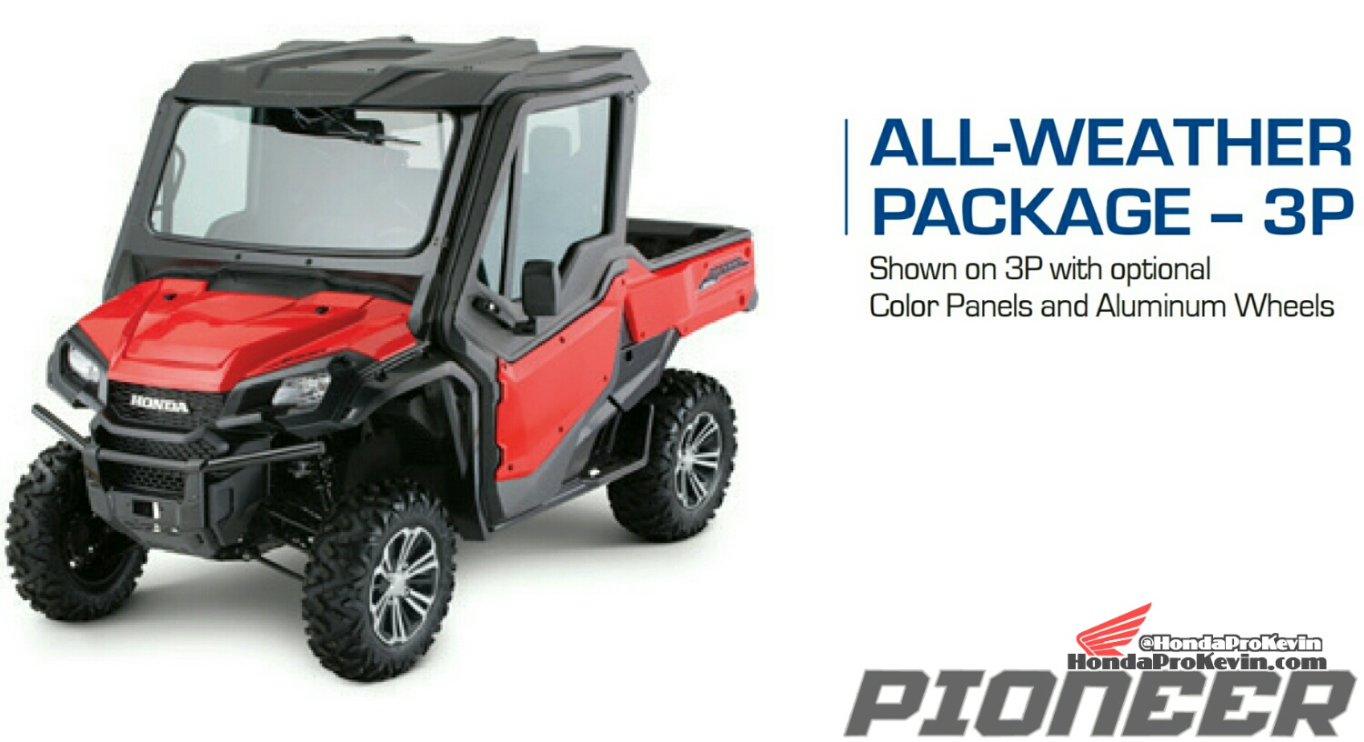 hight resolution of 2018 honda pioneer 1000 all weather package accessories parts sxs utv
