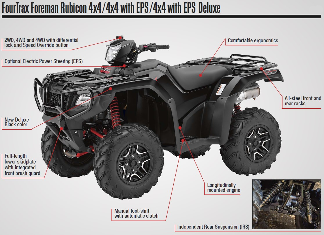 hight resolution of 2017 honda foreman rubicon 500 atv prices announced trx500 fourtrax model news honda pro kevin