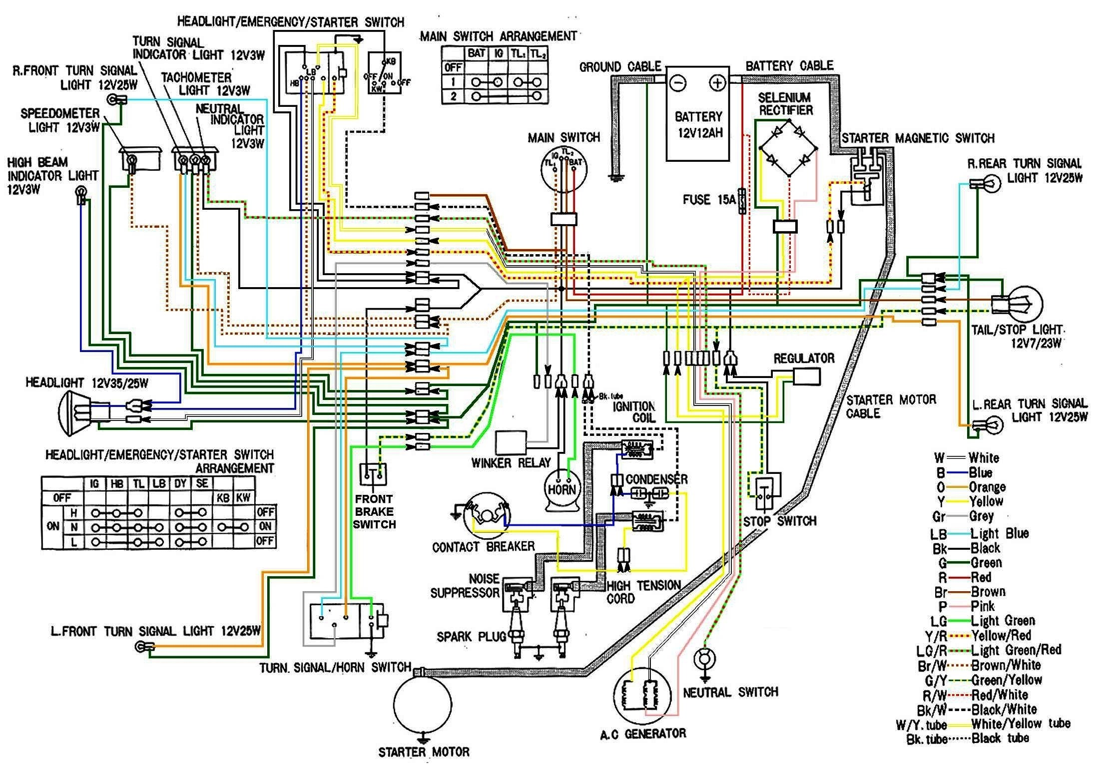 honda ss50 wiring diagram direct online starter cb450 color now corrected