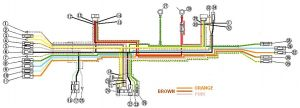 CB450 Color wiring diagram (now corrected)