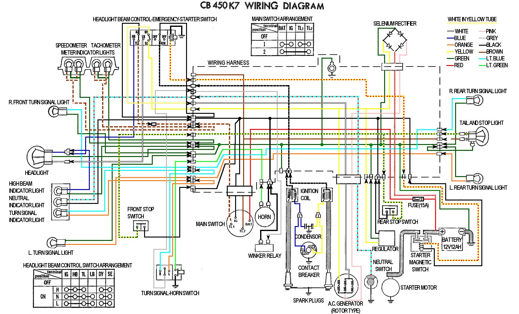 hight resolution of cb450 color wiring diagram now corrected ford wiring diagrams cb450 color wiring diagram